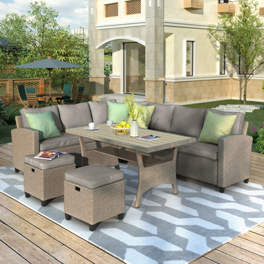 Charles Outdoor Furniture Set (5 Pieces).