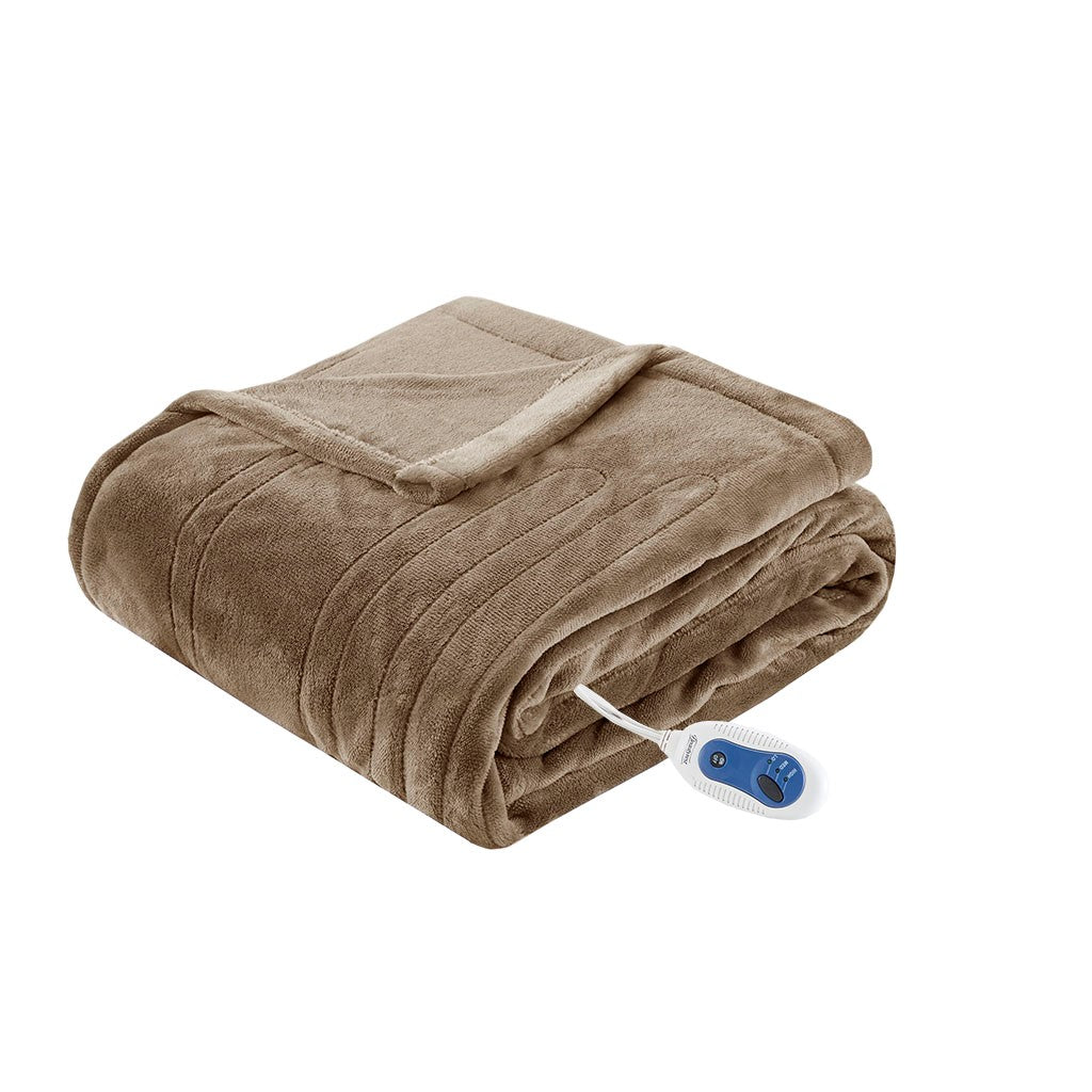 Heated Plush Throw