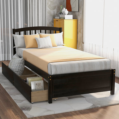 Davidson Platform Storage Bed with Two Drawers.