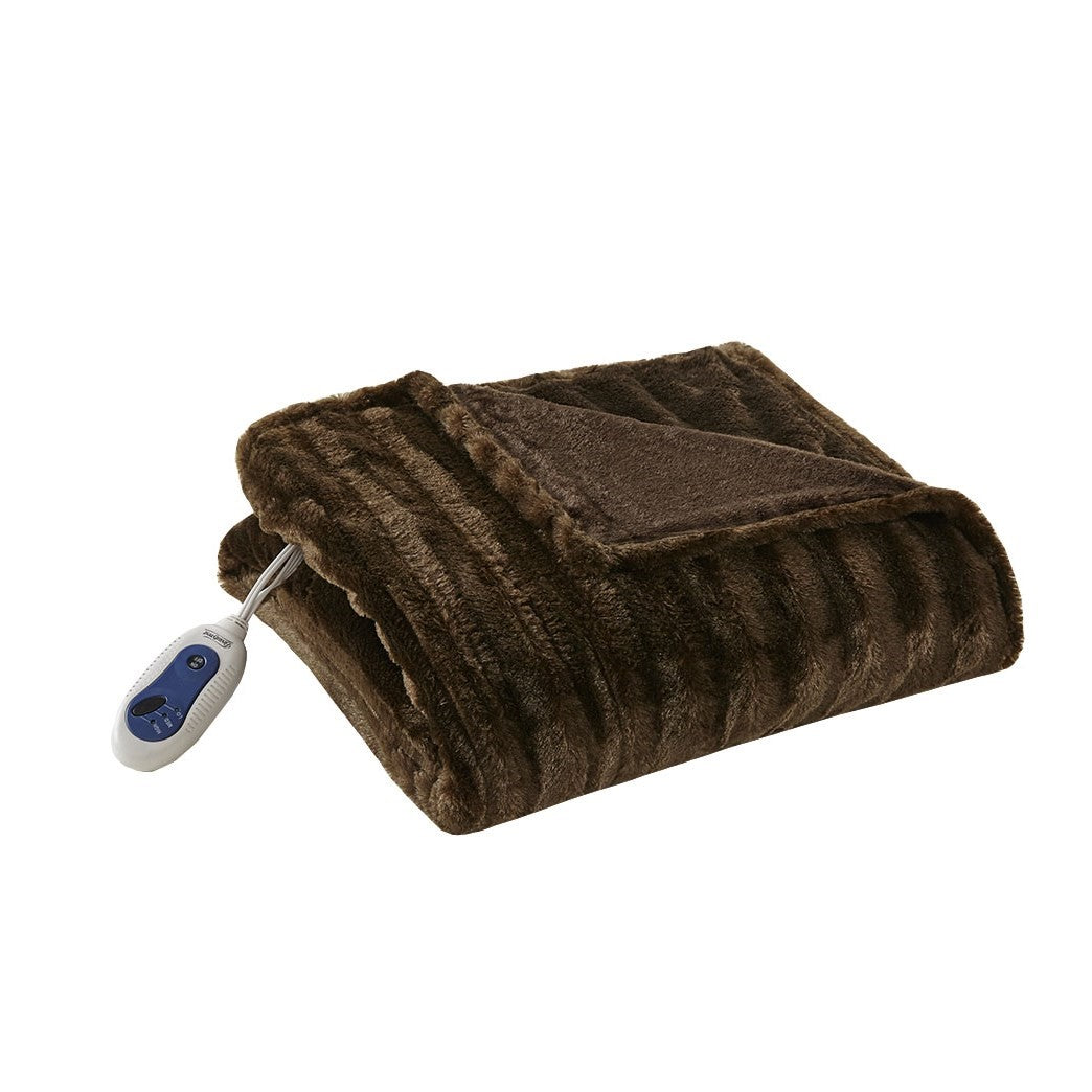 Heated Duke Faux Fur Heated Throw