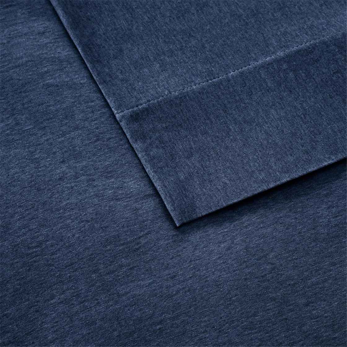 Cotton Jersey Knit All Season Heathered Sheet Set
