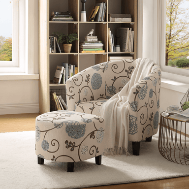 Alex Accent Chair with Ottoman