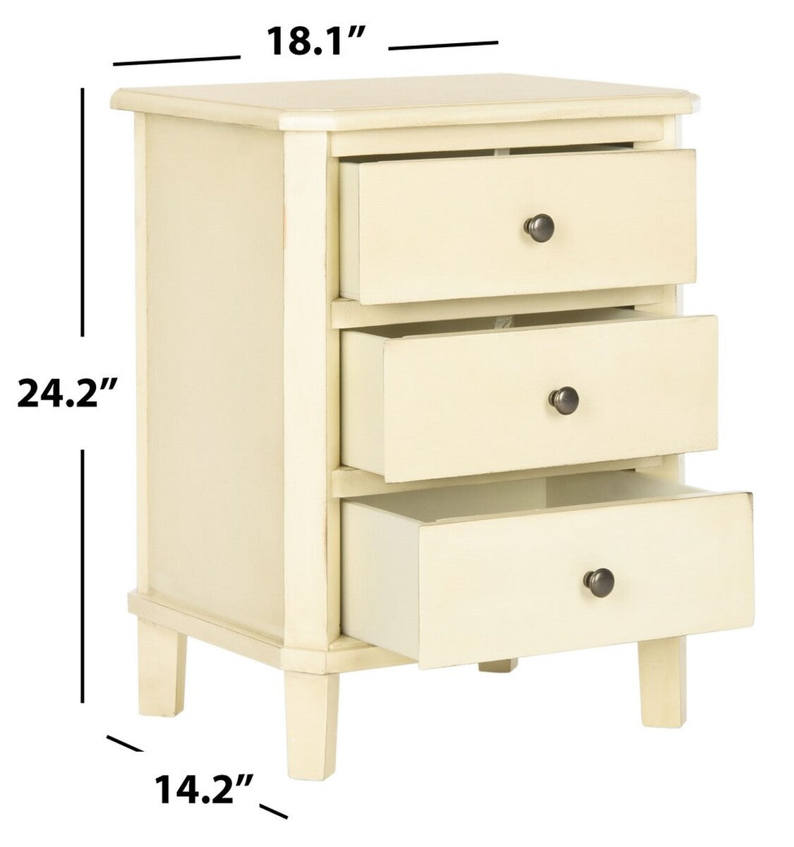 Joe End Table With Storage Drawers.
