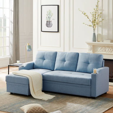 Avery Sectional Sofa with 2 Cup Holders