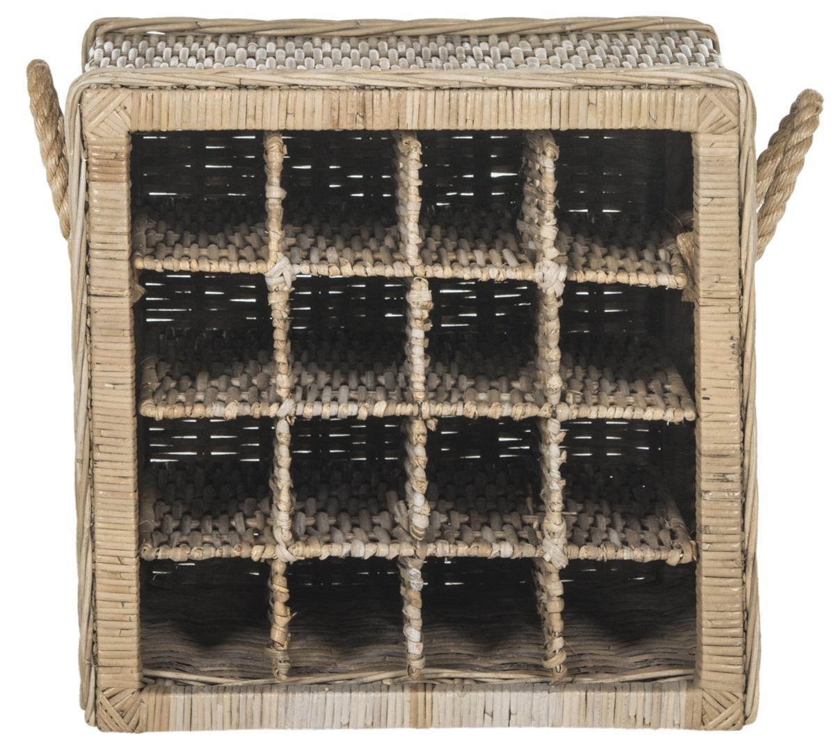Aziza 16 Bottle Wicker Wine Rack.