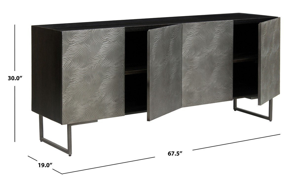 Boone Abstract Wave 4 Door Sideboard