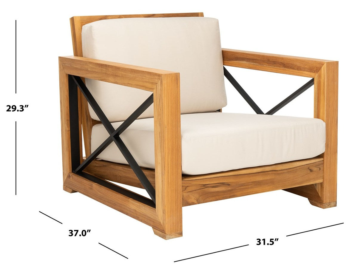 Curacao Outdoor Teak Club Chair.