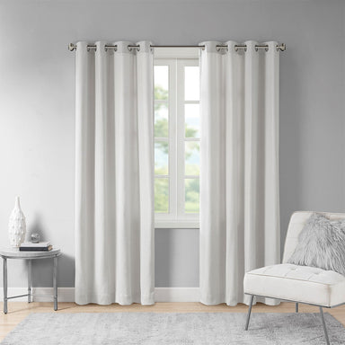 Englewood 100% Polyester Solid Piece Dyed Grommet Top Window Panel.