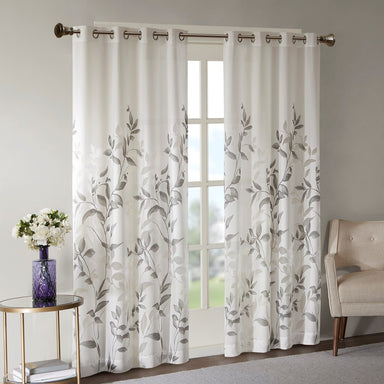 Cecily Botanical Burnout Printed Window Panel.