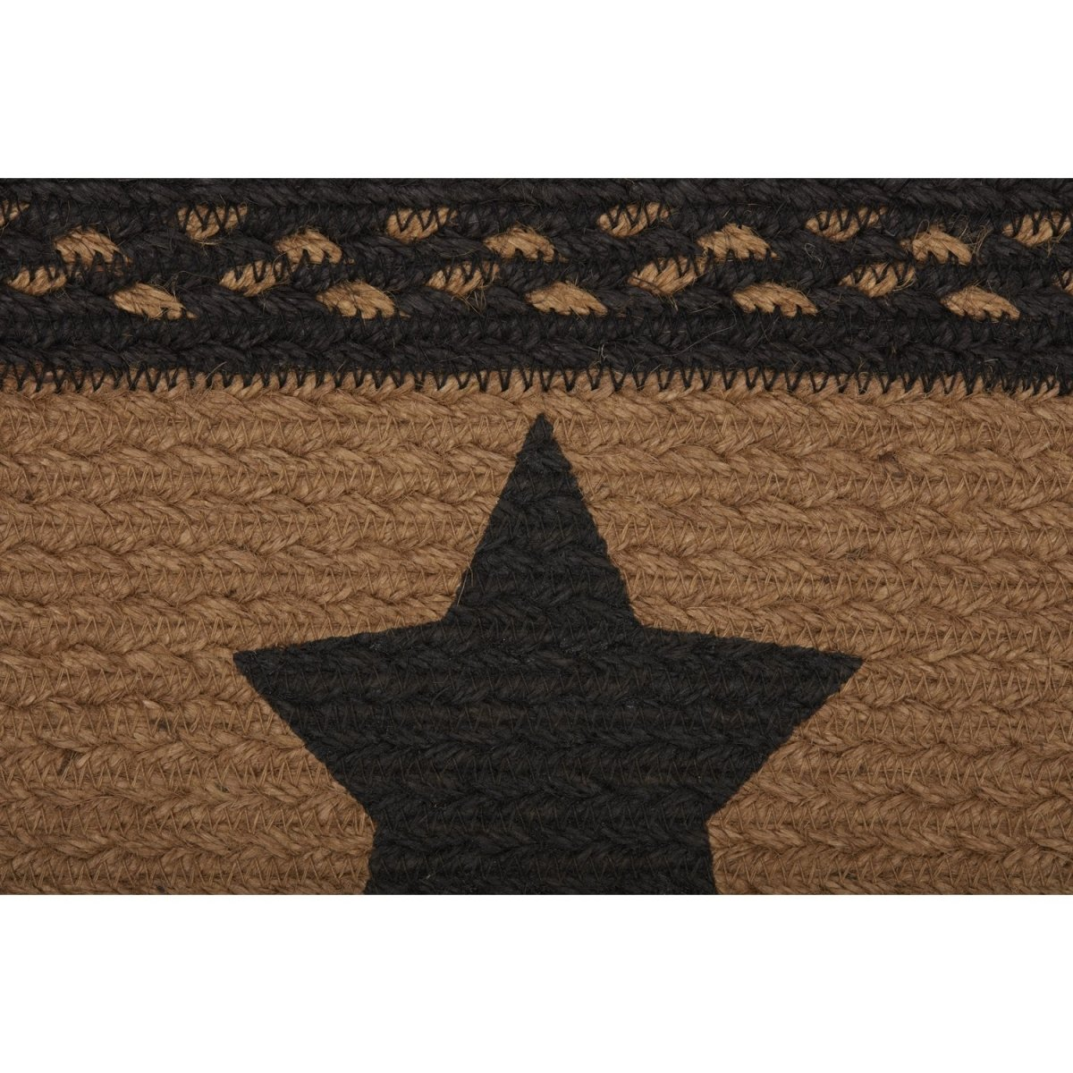 Farmhouse Jute Stair Tread Stencil Stars Rect Latex.