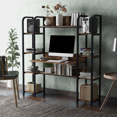Finley Desk with Storage Bookshelf.