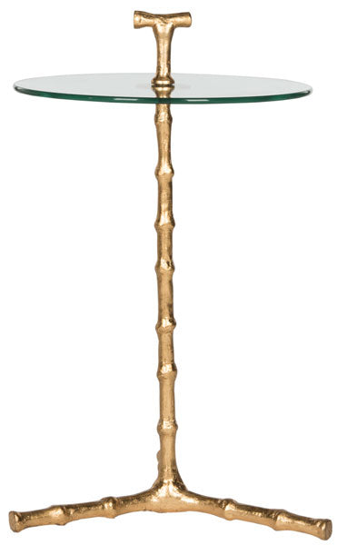 Cardin Bamboo  Leaf Round Accent Table.
