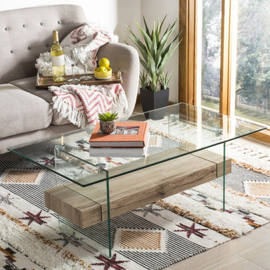 Kayley Glass Coffee Table.