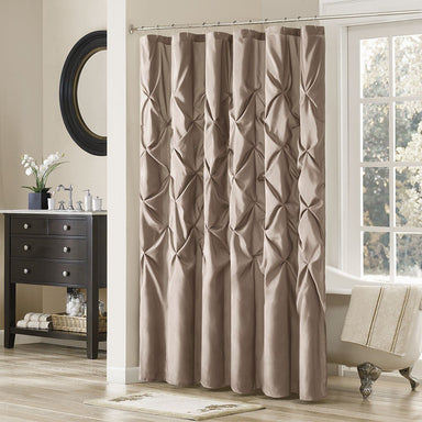 Laurel Faux Silk Shower Curtain.