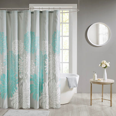 Maible Printed Floral Shower Curtain.
