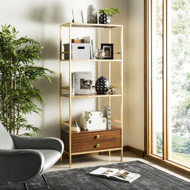 Mateo 4 Tier 1 Drawer Etagere.