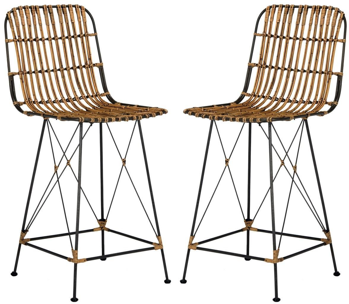 Minerva Wicker Counter Stool (Set of 2).