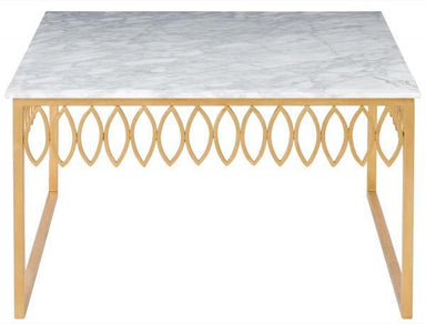 Natalia White Marble Cocktail Table