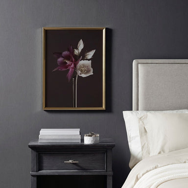 Night Floral Glass Frame Floral Photography.