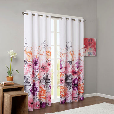 Olivia 100% Polyester Printed Lined Blackout Window Panel.