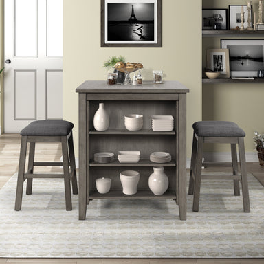 Olivia Dining Table with Padded Stools.