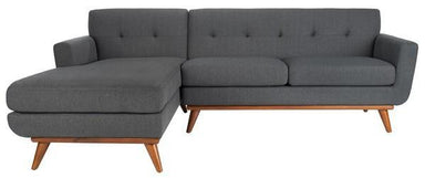 Opal Linen Tufted Sectional Sofa.