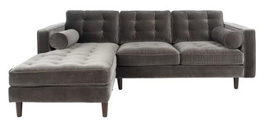Pepper Tufted Velvet Sectional.