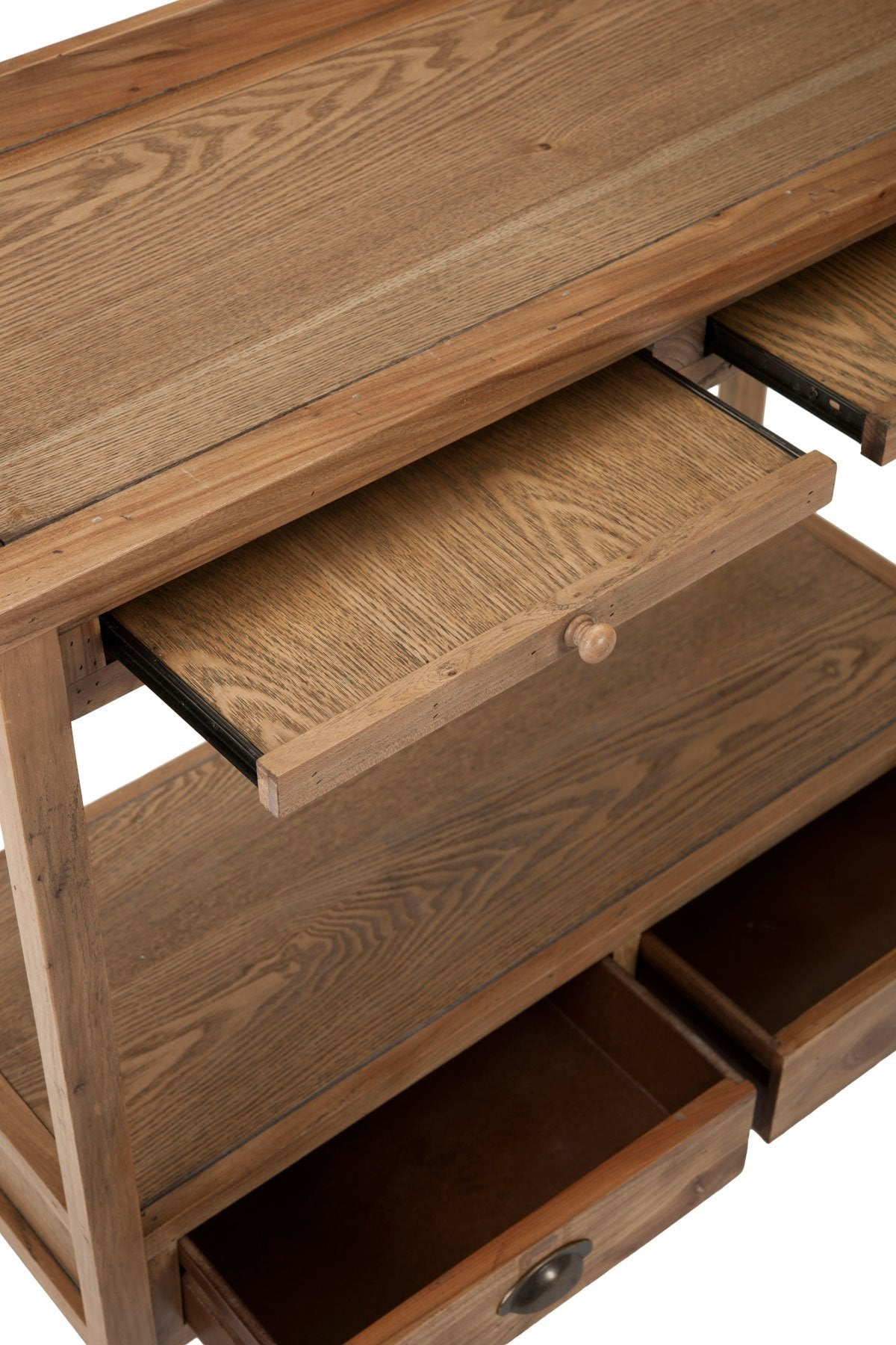 Peter Console With Storage Drawers.