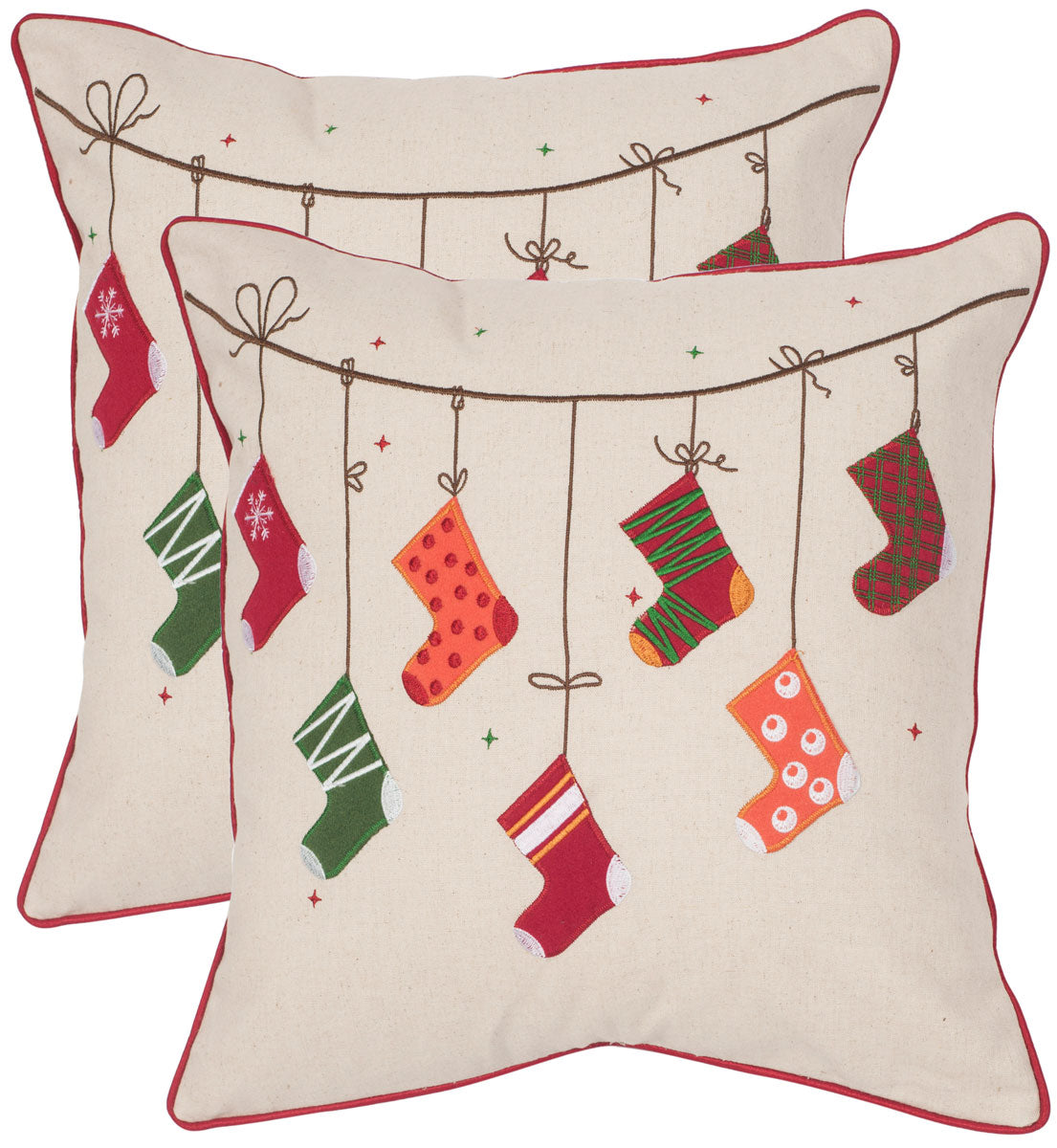 Holiday Stockings Pillow.