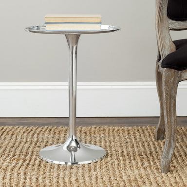 Platina Round Top Sleek Table.