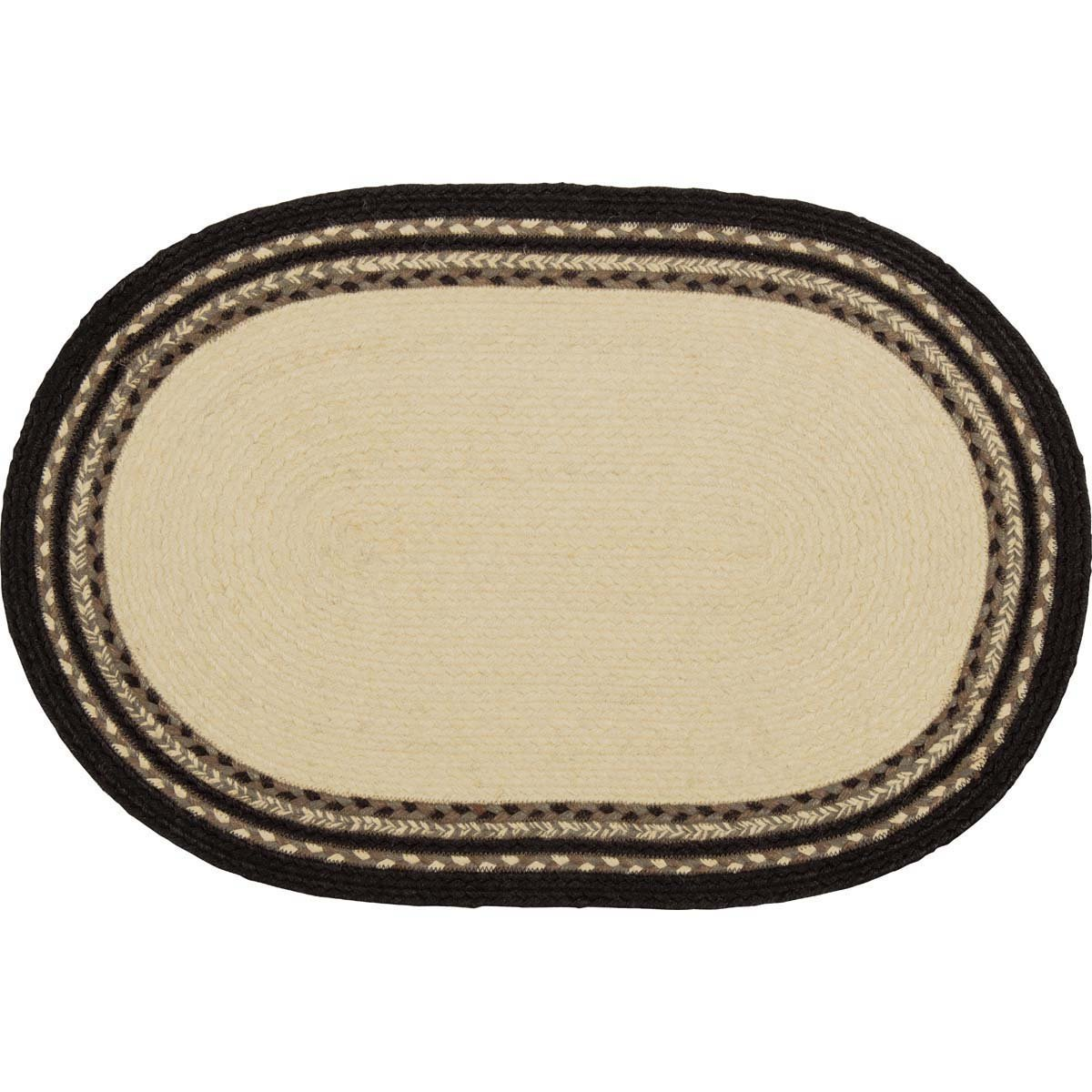Sawyer Mill Charcoal Cow Jute Rug Oval