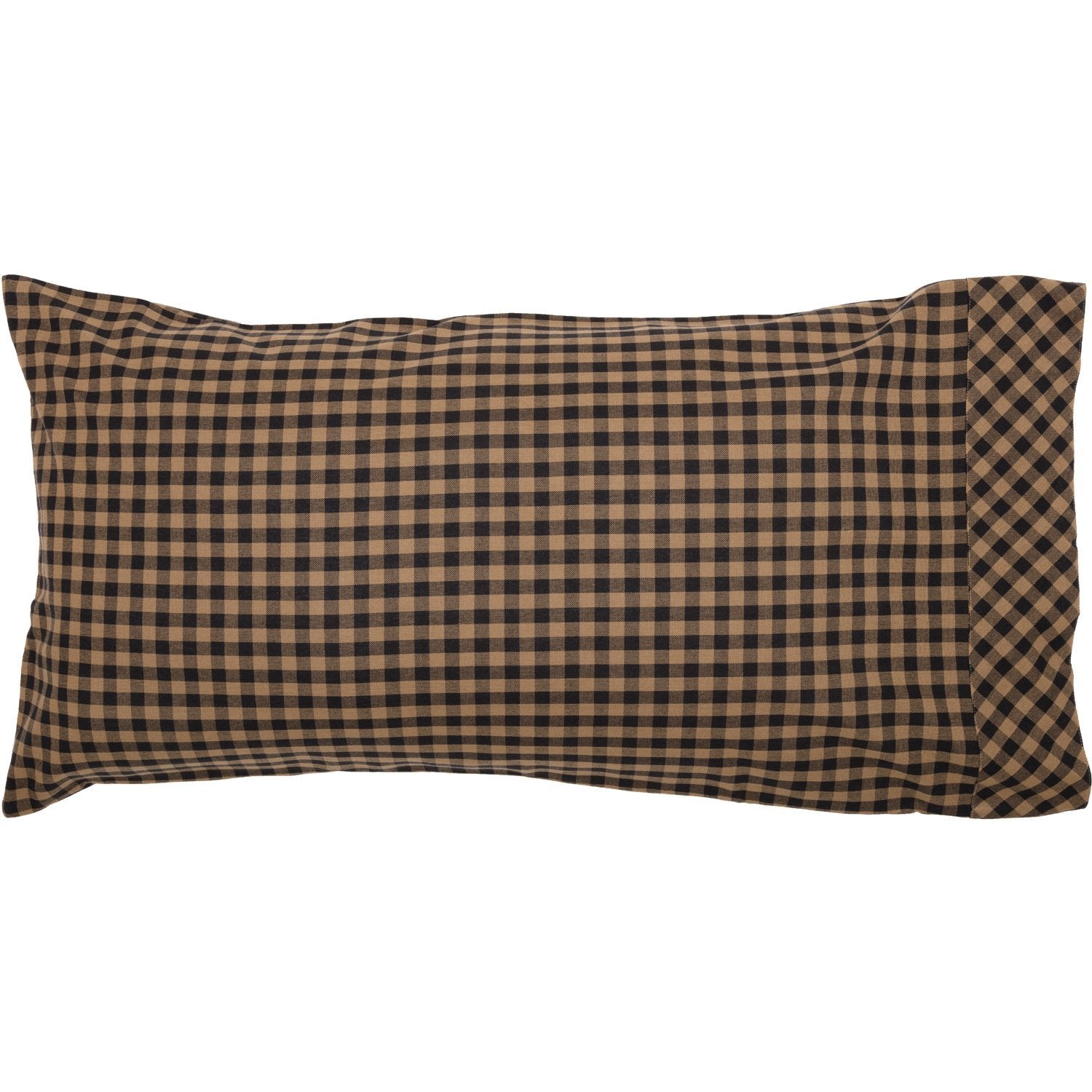 Black Check Pillow Case Set of 2.