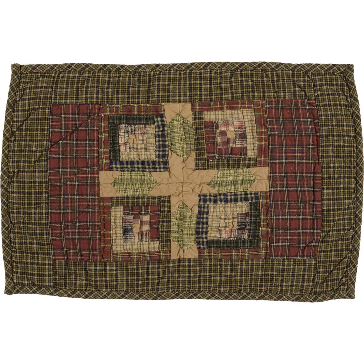 Tea Cabin Placemat Quilted Set of 6.