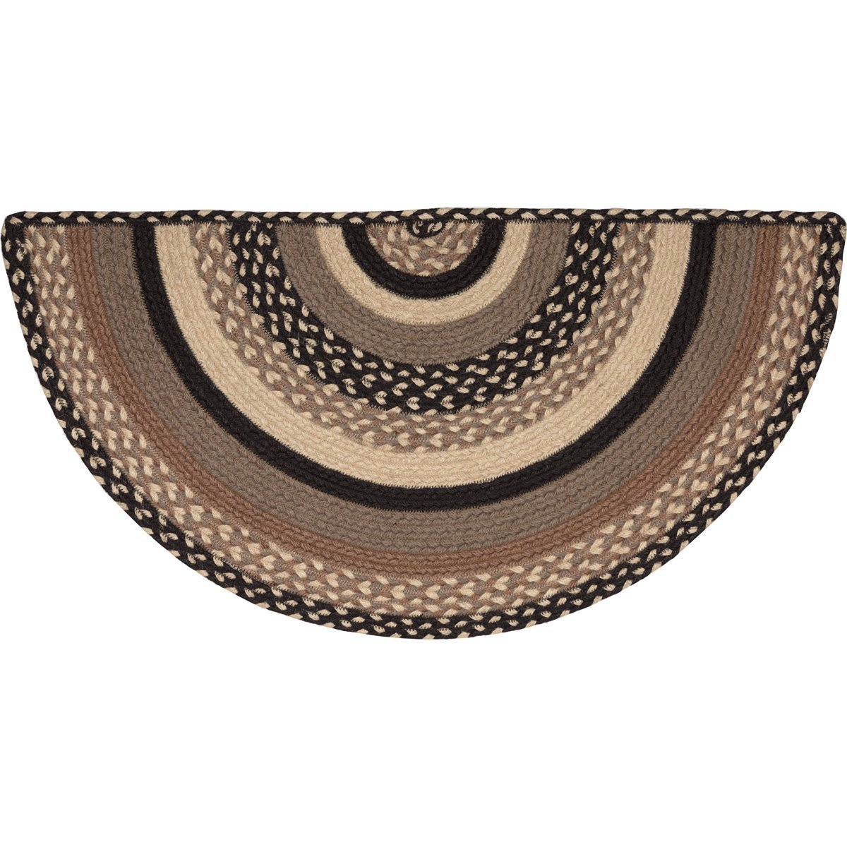 Sawyer Mill Charcoal Jute Rug Half Circle.