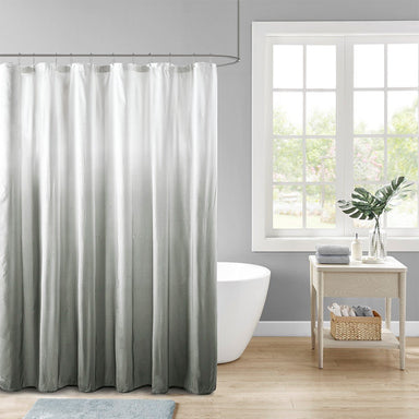 Ara Ombre Printed Seersucker Shower Curtain.