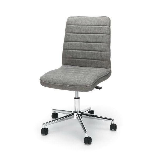 Gray Upholstered Lumbar Support Heavy Duty Conference Chair.