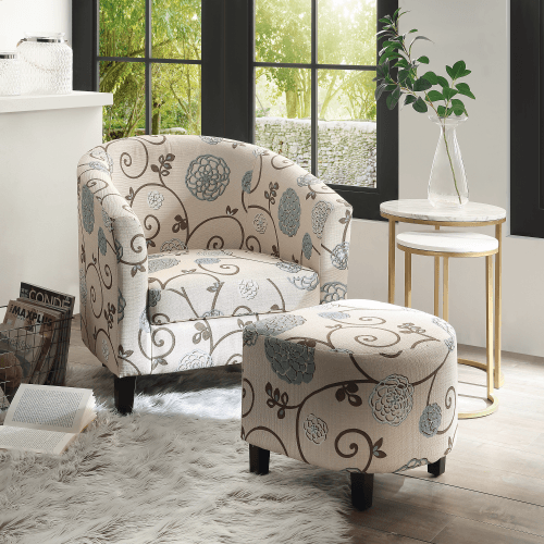 Jame Accent Chair with Ottoman
