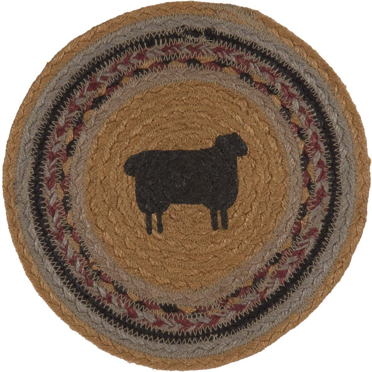 Heritage Farms Sheep Jute Trivet.