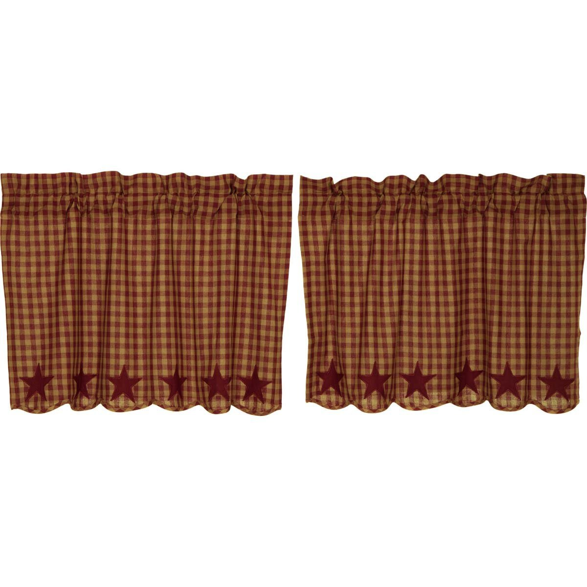 Burgundy Star Scalloped Tier Set of 2