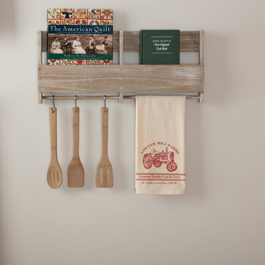 Sawyer Mill Red Tractor Muslin Unbleached Natural Tea Towel.
