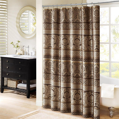 Bellagio Jacquard Shower Curtain.