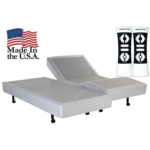 Split King Heavy Duty Adjustable Bed Base with Wall-hugger Design.