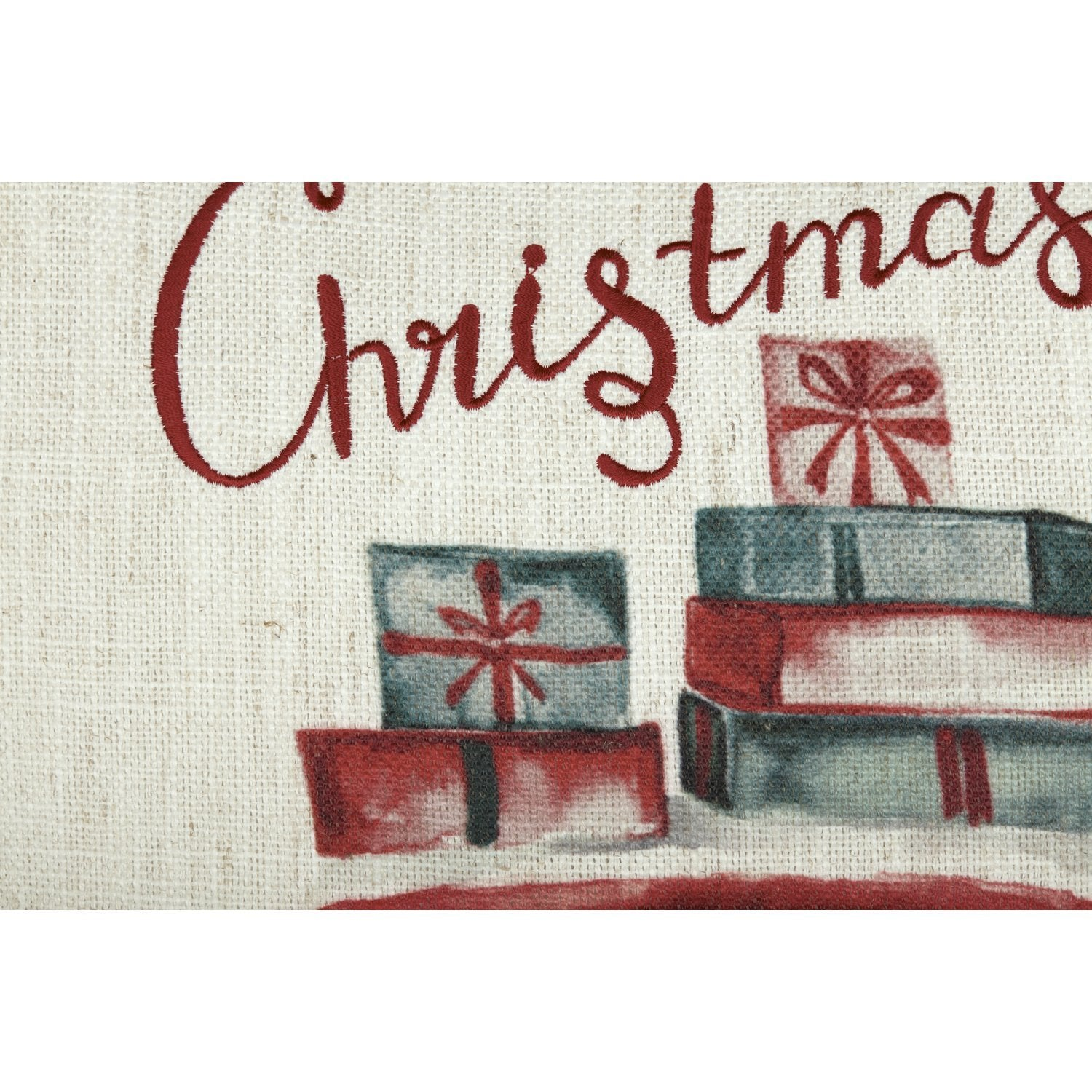 Merry Christmas Truck Pillow Cover.