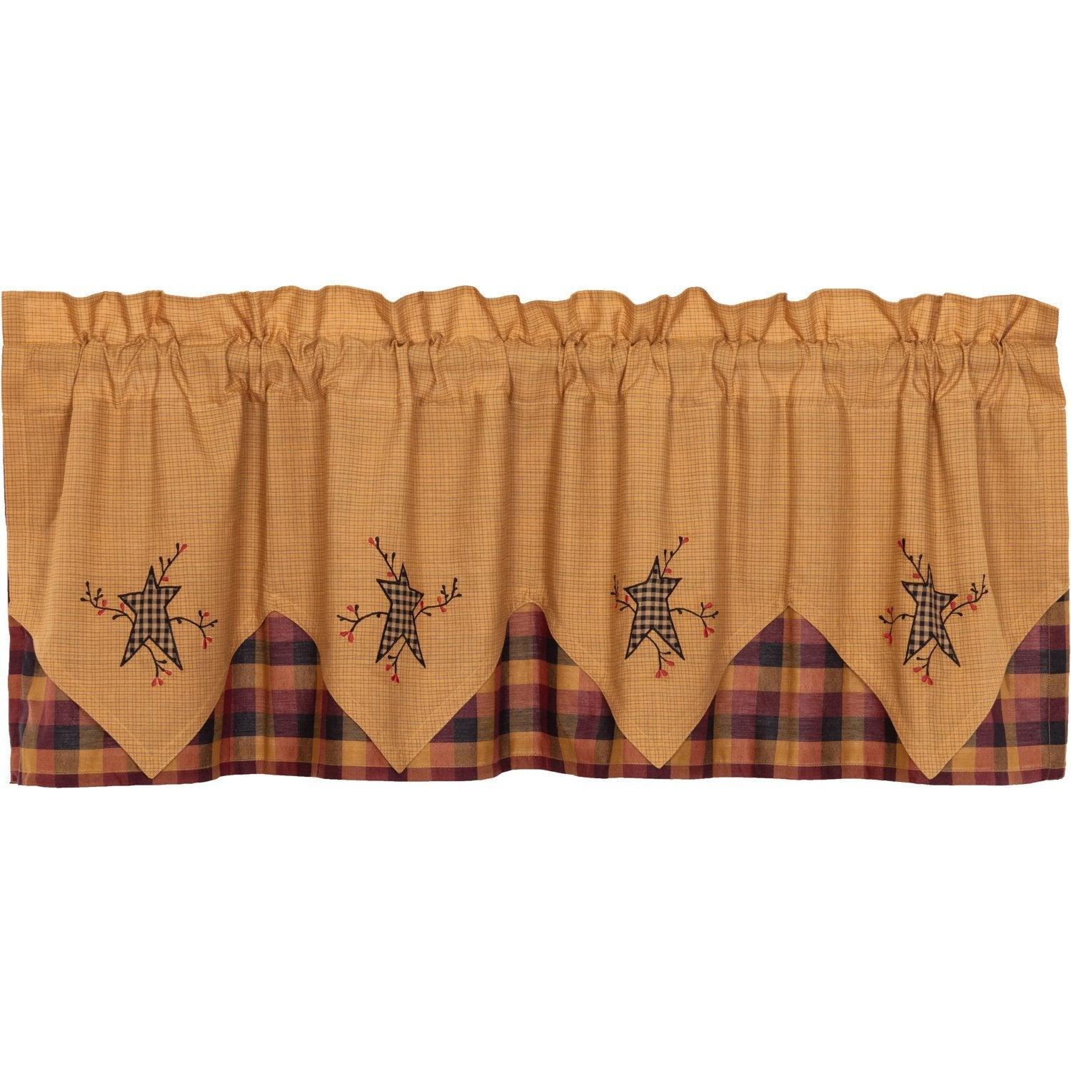 Heritage Farms Primitive Star and Pip Valance Layered.