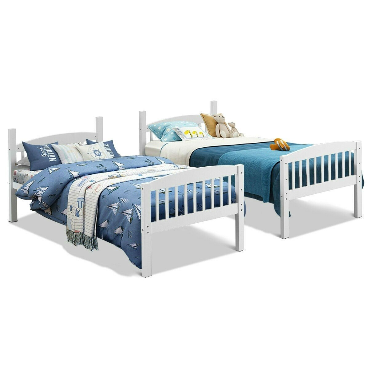Honey Twin Size Bunk Bed.