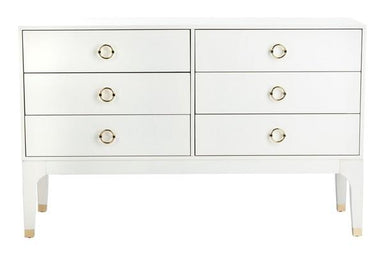 Lorna 6 Drawer Contemporary Dresser.