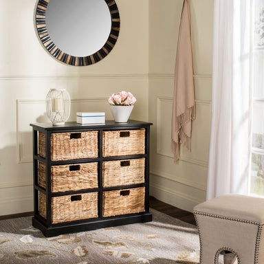 Keenan 6 Wicker Basket Storage Chest.