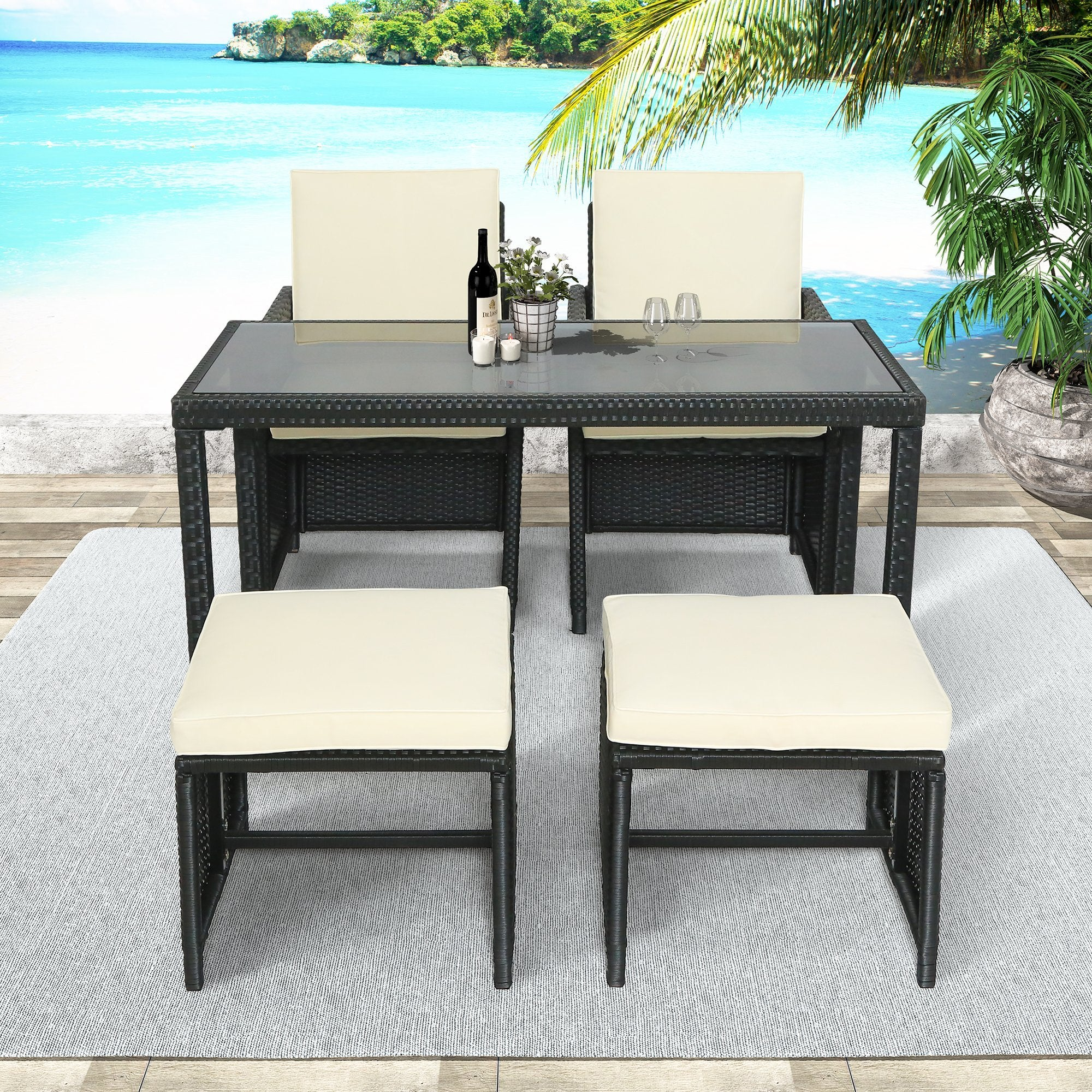 Lance Patio Furniture Set (5-Piece)