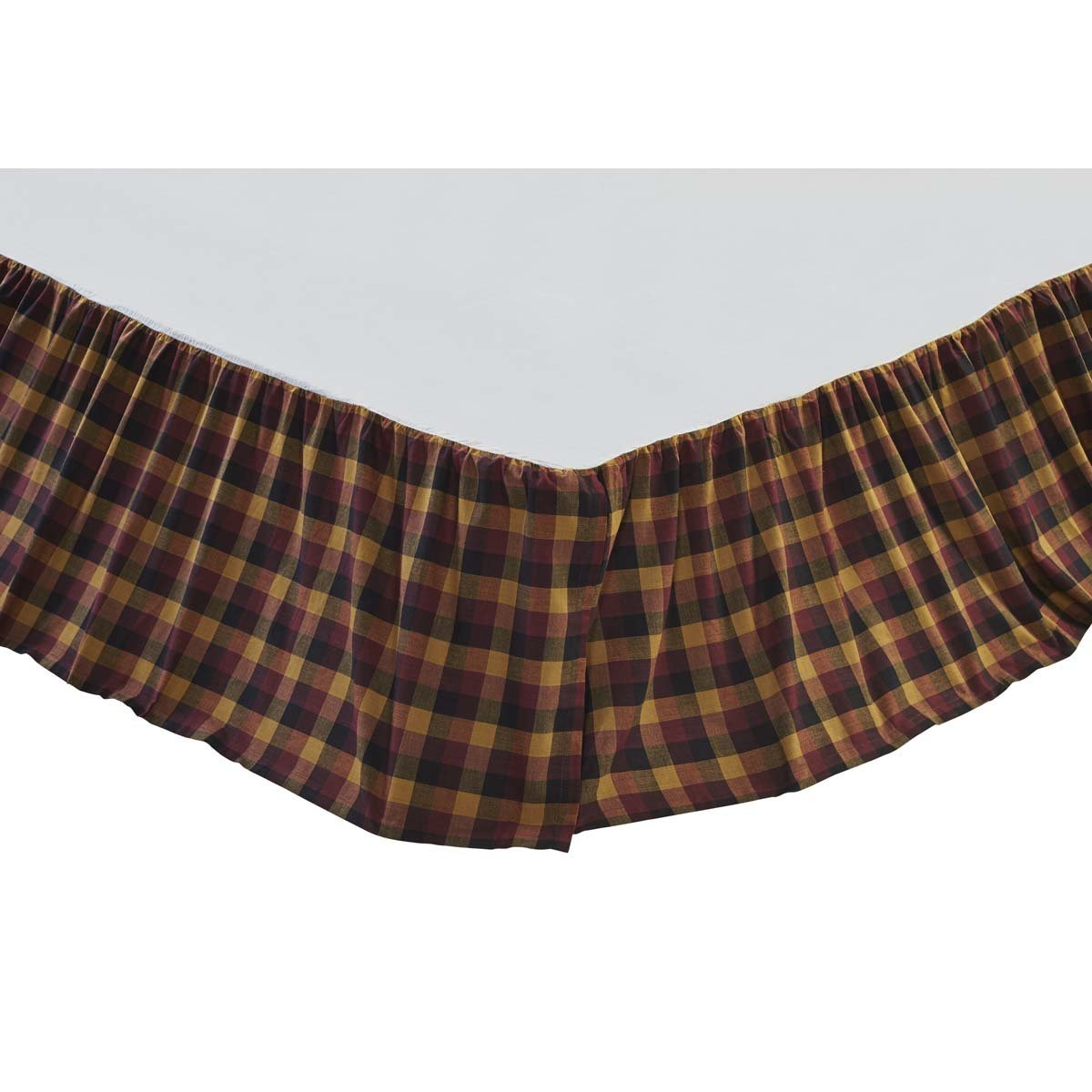 Primitive Check Bed Skirt.