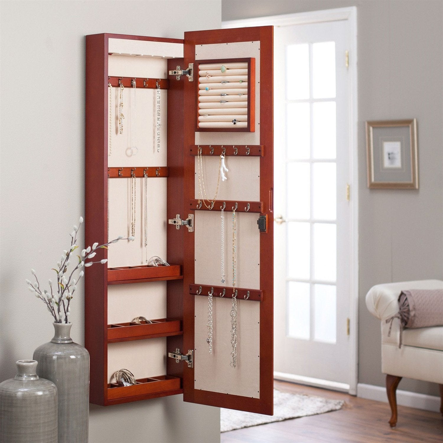 Madisyn Wall Mounted Jewelry Armoire